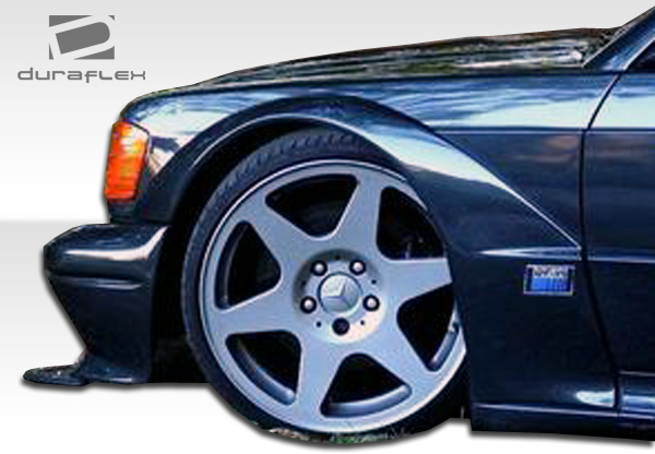 Mercedes E Class W124 4DR Duraflex Evo 2 Widebody Fender Flares 4 Pc