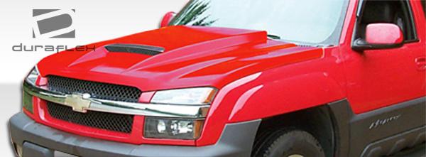Chevy Avalanche w O Body Cladding 02 06 Silverado 03 05 Duraflex RAM Air Hood